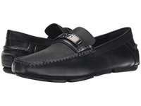 Calvin Klein Mchale Black Diamond Leather Men's Slip On Shoes