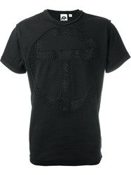Telfar Logo Lace Panel T Shirt Black