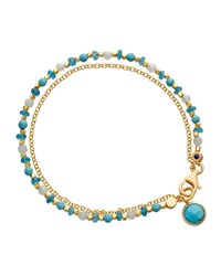 Be Very Cool Blue Beaded Friendship Bracelet Astley Clarke