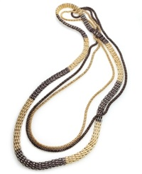 Style And Co. Necklace Gold And Bronze Tone Multi Chain Necklace