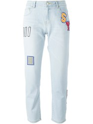 Steve J And Yoni P Patched Jeans Blue