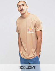Ellesse T Shirt With Curved Hem Stone