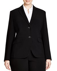 Basler Plus Two Button Blazer Black
