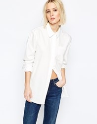 Weekday Big Denim Shirt White