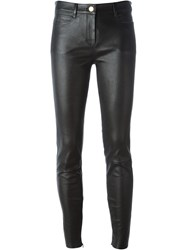 Jitrois Fitted Buttoned Trousers Black