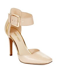 Nine West Legna Ankle Cuff Pumps Natural