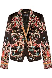 Just Cavalli Printed Satin Blazer