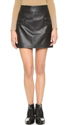 Paige Rayleigh Leather Skirt Black