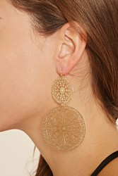 Forever 21 Medallion Layered Drop Earrings