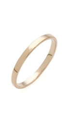 Blanca Monros Gomez Flat Band Ring Gold