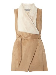 Dorothy Perkins Petite Belted Gilet White