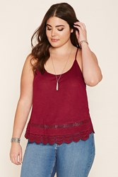 Forever 21 Plus Size Lace Panel Cami
