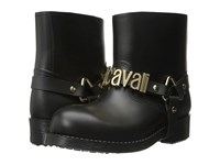 Just Cavalli Rubber Rain Boot W Sliding Logo Black Women's Rain Boots