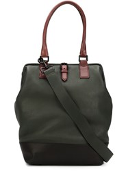 Marc Jacobs Contrasted Handle Tote Green