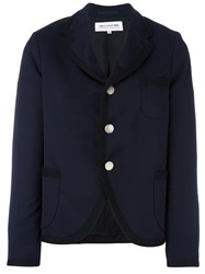 Comme Des Garcons Girl Round Hem Cropped Jacket Blue