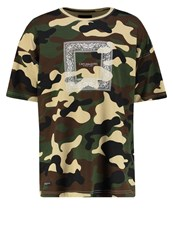 Cayler And Sons Print Tshirt Woodland White Oliv