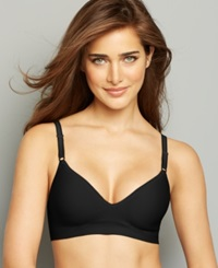 Hanes Platinum Smooth Inside And Out Foam Wireless Bra Hp05 Black