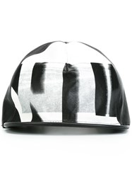 Nil0s Printed Leather Cap Black