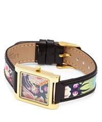 Flowers Of Liberty Strawberry Thief Liberty Print Leather Watch