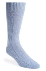 Men's John W. Nordstrom Cable Knit Socks Blue Pale Blue