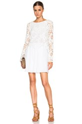 See By Chloe Lace Top Flare Dress In White