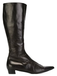 Helmut Lang Vintage Pointed Toe Boots Brown