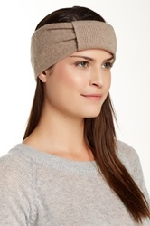 Portolano Knotted Cashmere Headband Brown