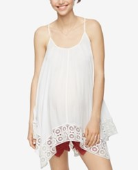 A Pea In The Pod Maternity Handkerchief Hem Tank Top White