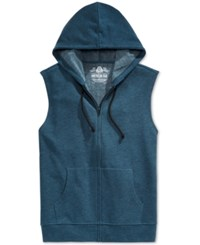 American Rag Men's Fleece Full Zip Hoodie Vest Only At Macy's Riviera Blue Heather