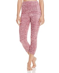 Josie Sweater Weather Cropped Pants Heather Dark Red