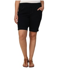 Jag Jeans Plus Size Ainsley Pull On Classic Fit Bermuda In After Midnight After Midnight Women's Shorts Black