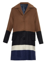 Mother Of Pearl Montiague Colour Block Wool Blend Coat