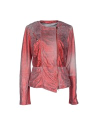Vintage De Luxe Coats And Jackets Jackets Women Red