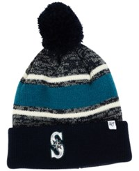 '47 Brand Seattle Mariners Fairfax Knit Hat Navy Teal White