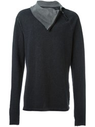 Lost And Found Ria Dunn High Collar Jumper Grey