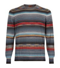 Missoni Striped Polo Jumper Male Grey