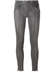 Calvin Klein Jeans Zipped Ankle Skinny Grey