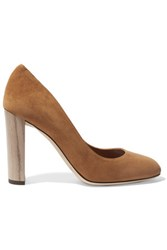 Jimmy Choo Laria Suede Pumps Tan