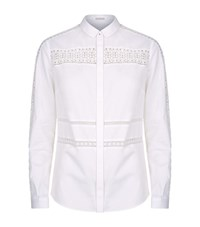 Elie Tahari Viviana Lace Shirt Female White