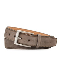 Robert Graham Lewis Suede Belt Gray