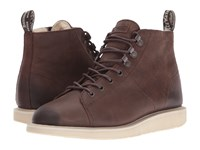 Dr. Martens Fur Lined Les Boot Dark Brown Burnished Wyoming Women's Lace Up Boots