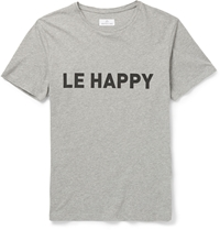 Hentsch Man Le Happy Printed Cotton T Shirt Gray