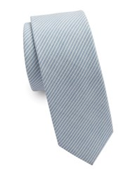 Original Penguin King Striped Tie Light Blue