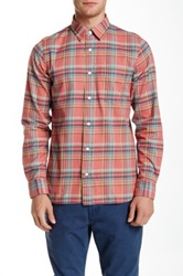 Jack Spade Sanford Plaid Long Sleeve Modern Fit Shirt Red