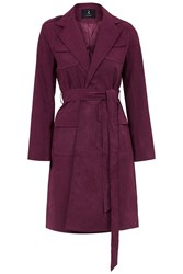 Longline Suede Trench Coat By Rare Wine