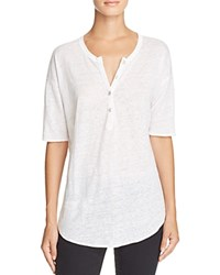 Chaser Burnout Henley Tee White