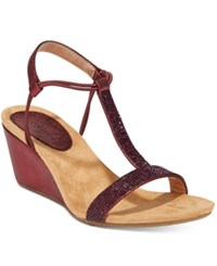Styleandco. Style Co. Mulan 2 Embellished Evening Wedge Sandals Only At Macy's Women's Shoes Raisin Red
