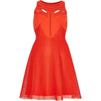 River Island Womens Red Mesh Cut Out Skater Dress