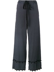 Adam Selman Sleepless Print Palazzo Pants Black