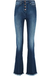 Sonia Rykiel High Rise Flared Jeans Mid Denim